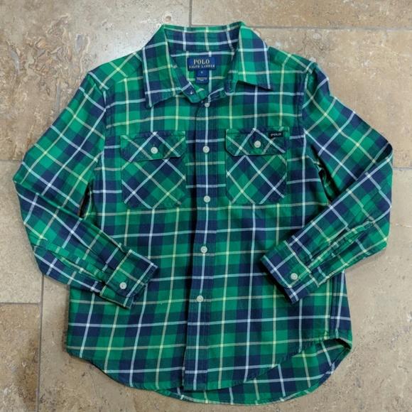 54608380c Polo Ralph Lauren boy's plaid shirt. Size 6. M_5c60ed00aa5719e3703e22a8